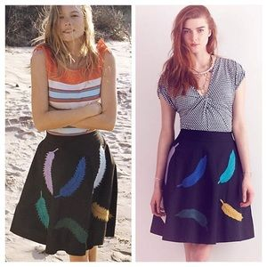 Anthropologie Yarn Plumes Skirt